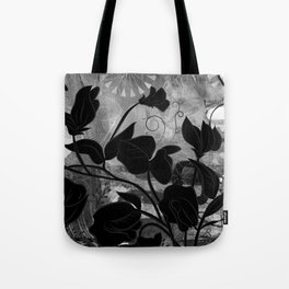Queen Sweet Pea -- grayscale Tote Bag
