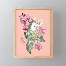 BIRD AND FOULARD 2 Framed Mini Art Print