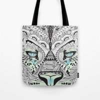 kit king Tote Bags featuring Kit Mambo by eos vector