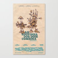movie posters Canvas Prints featuring Amathias Pictures -  Imaginary movie posters by Pedro Hamdan