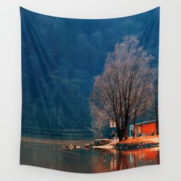 Gone fishing | waterscape photography Wall Tapestry