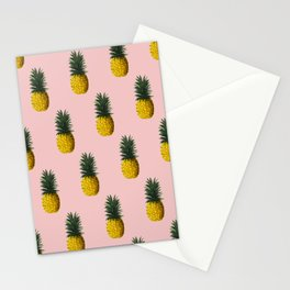 Pineapple and Pink II Stationery Cards