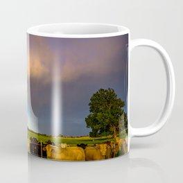 Bovine Shine - Cattle Gather on Stormy Day in Kansas Coffee Mug