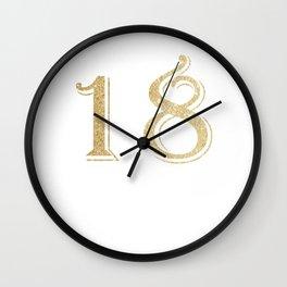 18 Geburtstag Mädchen Princess 2001 - Krone Prinzessin graphic Wall Clock
