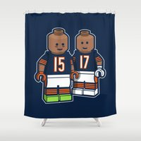 Bears Bricked: Brandon Marshall & Alshon Jeffery Shower Curtain