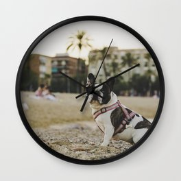 Dog by Collins Lesulie Wall Clock