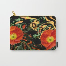 Poppies with abstract Carry-All Pouch