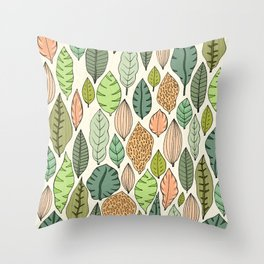 Leaf fall Throw Pillow
