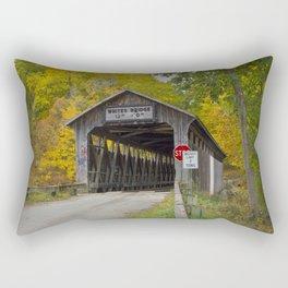 White's Covered Bridge in Fall Rectangular Pillow