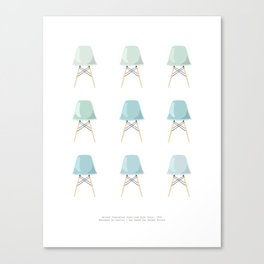 Mint Chairs Canvas Print