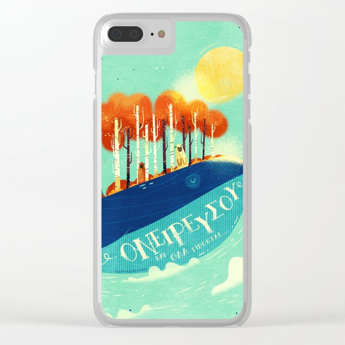 :::Tall Tree Whale::: Clear iPhone Case