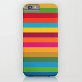 Color Stripes - horizontal iPhone Case