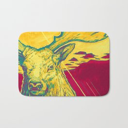 Stag Dimension of Yellow Bath Mat