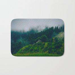 Moist Rainy Forest Pine Trees  Green Hills Bath Mat