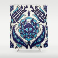 moroccan Shower Curtains featuring Moroccan by Faith Dunbar