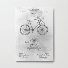 1896 Military bicycle Metal Print