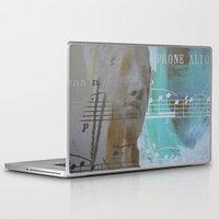 saxophone Laptop & iPad Skins featuring Saxophone alto by arantzazugcalderon