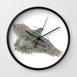 Gold eagle and Astana Wall Clock