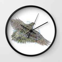 Gold eagle and Astana Wall Clock