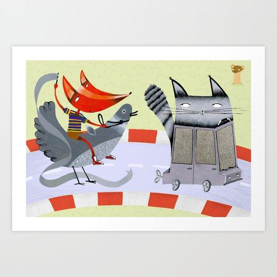 Sam the Fox Art Print