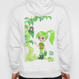 Petites filles des couleurs Vert Hoody