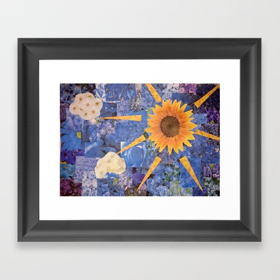 Summer Collage Framed Art Print