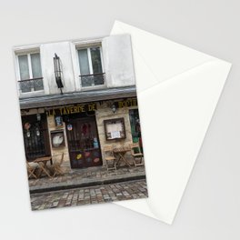 Cafe in Monmartre Paris Stationery Cards