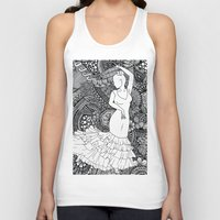 spanish Tank Tops featuring spanish dancer by ZINAVARTA