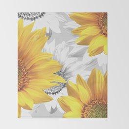Sunflower Bouquet #decor #society6 #buyart Throw Blanket
