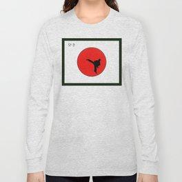 Art Of Karate Print Long Sleeve T-shirt