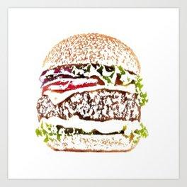 hamburger painted picture Art Print