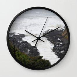 Devils Churn Oregon Coast Wall Clock
