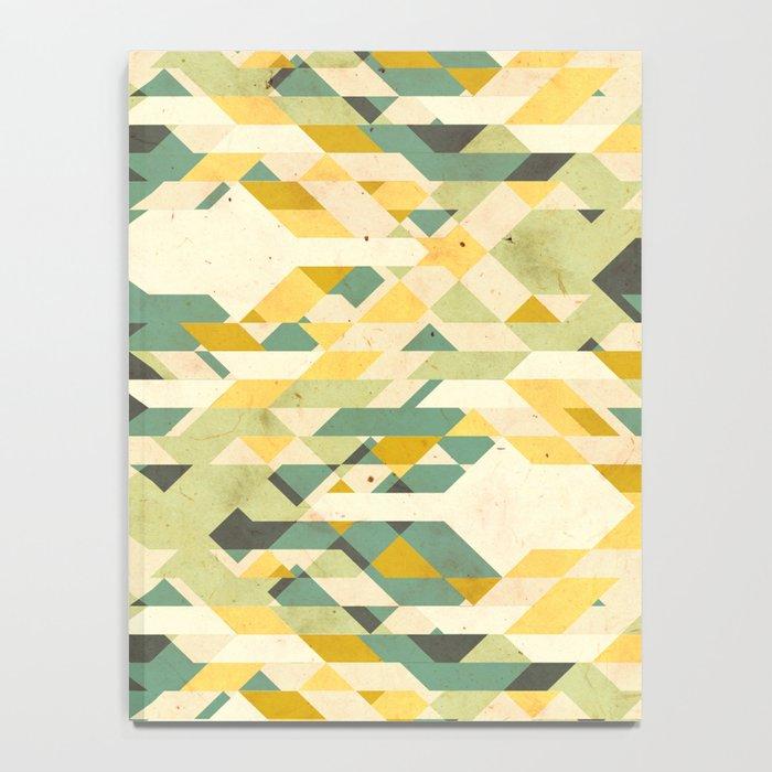 des-integrated tartan pattern Notebook