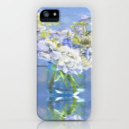 Rustic Hydrangea In Mason Jar iPhone Case