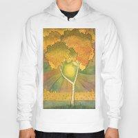 birch Hoodies featuring Birch 2 by Eugene Frost