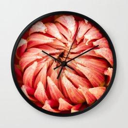 Parkland Glory Dahlia 2 Wall Clock