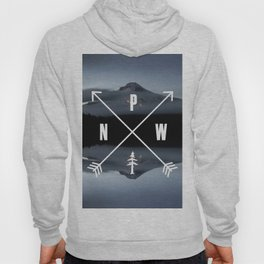 PNW Pacific Northwest Compass - Mt Hood Adventure Hoody
