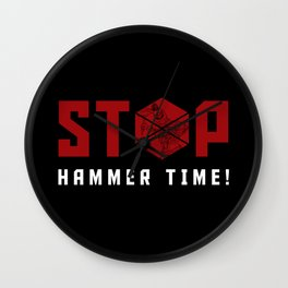 Stop. Hammer Time! Wall Clock