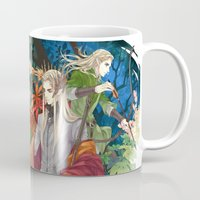 thranduil Mugs featuring Thranduil & Legolas by kagalin