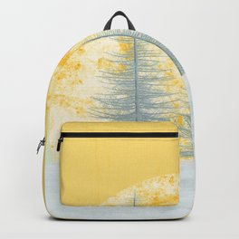 Two snow trees and a lovely sunny morning Backpack