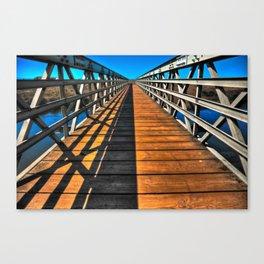 Beach Bridge Canvas Print