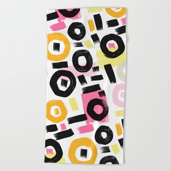 Perception Abstract 002 Beach Towel