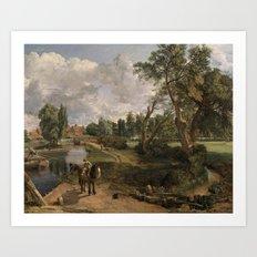 John Constable, Flatford Mill ('Scene on a Navigable River') 1816–7 Art Print