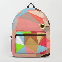 Cockatoo  geometric art Exotic Nature birds Backpack