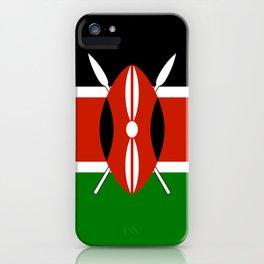 Kenyan national flag - Authentic version iPhone Case