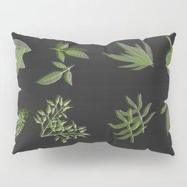 plants on black Pillow Sham