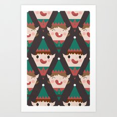 Day 22/25 Advent - Little Helpers Art Print