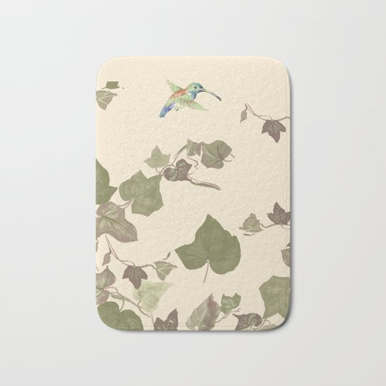 Ivy & hummingbird Bath Mat