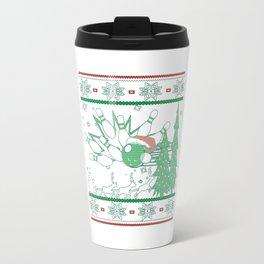 Bowling Christmas Travel Mug