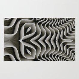 Exo-skelton 3D Optical Illusion Rug
